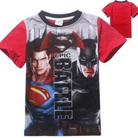 batman kids t shirts - New style Marvel Comics Baby Super Heroes Captain America Batman Kids T Shirt Costume cm E842