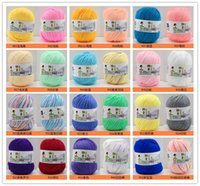 Wholesale Hot Sale Warehouse balls Cashmere Cotton Soy Soft Yarns Baby Knitting Handmade DIY Material Sweater Hat Scarf Colors