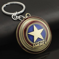 Wholesale Marvel Comics Super Hero Captain America Avengers KeyRings Keychains Holder Purse Bag Buckle Accessories Gift Key Chains