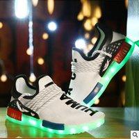 Lace-Up amazon usb - 2016 New LED colorful lights Amazon wish hot models USB charging emitting fluorescent couple shoes casual shoes