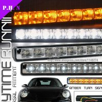 Wholesale Super Bright DRL LED Daytime Running Light Driving Lamp LED DRL Turn Signal Light have stock ready to ship