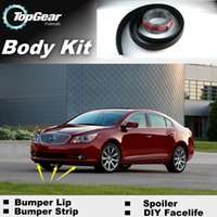 Wholesale For BUICK LaCrosse Bumper Lip Lips Front Skirt Deflector Spoiler For Car Tuning The Stig Recommend Body Kit Strip