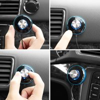 car hands free microphone - dodocool Wireless Hands Free Car Music Receiver Plug Built in Microphone Magnetic Mounts with Dual USB Ports Car Charger