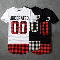 bandana print shirt - 2016 UNDERATED Bandana Fashion Men s Extended Tee Shirts Men Skateboard Element t shirt Hip Hop t shirt Street wear Clothing