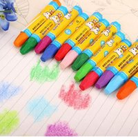 Wholesale Six edge oil painting sticks color oil painting rods non toxic multi color children painting pen infant crayons stationery