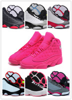 Wholesale 2016 latest retro XIII women Basketball Shoes red Bred He Got Game Black Sneaker Sport Shoes Online Sale Size