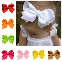 big grasses - 2016 boutique hair bows baby hairbows headband big grosgrain ribbon bows baby girls children hair accessories with clip inch