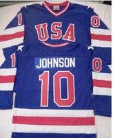 Wholesale MARK JOHNSON Olympic USA MIRACLE Jersey shirts size S small xl