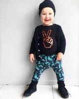 Cheap INS Spring and Autumn cool baby boy clothes set cotton cute boy T-shirt+pants 2pcs Infant clothes newborn baby clothing set