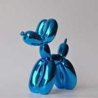 balloon statues - Blue Metallic Large SIZE Balloon Dog Figurine Statue American Pop Art Craft Ornament Resin Crafts Love Gift New Arrival