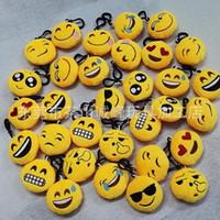 Wholesale New style Emoji toys for Kids Emoji Keychains Mixed Emoji Keyrings Bag pendant cm E765