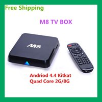 Wholesale Free DHL M8 Amlogic S802 Android TV Box M8N Quad Core G G Mali450 KODI GPU K HDMI G G Dual WiFi Pre installed APK ADD ONS