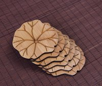Wholesale Bamboo coasters tea cup mats pads wood coasters dinnerware table decorative pads insulation mat