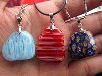 beautiful man flower - Beautiful Flower Crystal Stone Pendant drop pendant Men Women fashion jewelry DIY pendant