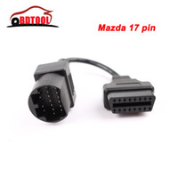 Wholesale MAZDA Pin to OBD OBD2 OBDII DLC Pin to Pin Female Car Diagnostic adapter Cable Mazda PIN For Mazda Series