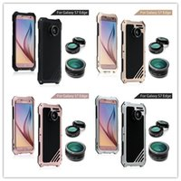 abs kits - For Samsung Galaxy S7 Edge Case Inches IP54 Three anti with in Lens Kit Fisheye Macro Wide Angle Camera Lens with Glass Screen DHL