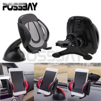 Wholesale Fit For GPS Cell Phone MP4 etc Car Windscreen Dashboard Phone PDA GPS Mount Holder Air Vent Stand Cradle Black