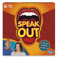 Wholesale Genuie Speak Out Game Interesting Board Game Includes Mouthpieces double sided cards timer and instructions