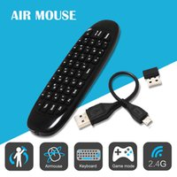 Wholesale Gyroscope Fly Air Mouse C120 Wireless Game Keyboard Android Remote Controller Rechargeable Ghz Keyboard for Smart Tv Box Mini PC