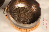 antique brass bowl - 130mm Bowl Tibetan Singing Yoga HIMALAYAN Hand Hammered CHAKRA Meditation singing bowls Antique Garden Decoration Silver Brass