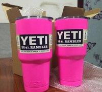 Wholesale 1PCS Pink YETI Tumbler Rambler Cups Yeti Coolers Cup oz Yeti Sports Mugs Large Capacity Stainless Steel Travel Mug