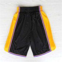 Wholesale Los Angeles Basketball Shorts Stitched Logo Embroidery New Material Rev Sports Shorts Mix order
