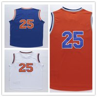 athletic clothes - 2016 Knicks Derrick Rose Fashion sport jerseys Mens Retro White blue Orange Yellow sports jersey Clothes Clothing