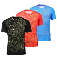 badminton service - Free Delivery Lining table tennis service men and women s shirt Dragon