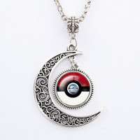 Cheap 9 Style Poke Ball Necklace Alloy Chain Pendants Charming Anime Pendants Jewelry Gifts For women men PPA139