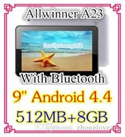Wholesale 30PCS inch Dual core Android Tablet PC MB GB GHz Allwinner A23 Bluetooth Ebook Reader C PB