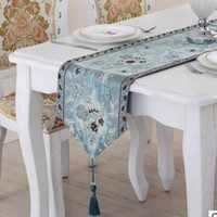 american tablecloths - High grade coffee table runner European luxury American table strip decorative cloth Doily tablecloth bed
