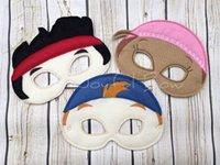 Cheap Halloween cartoon felt mask Neverland Pirate Crew inspired masks Festive and party supplies Hot sale Drop shipping