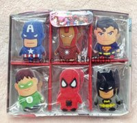 5 to 7 years Unisex stationery 30pcs box Cartoon The Avengers Hero Eraser Student Correction Supplies Pencil Eraser School Stationery Rubber Erasers Kids Gift