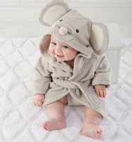 Wholesale high quality children s bathrobe Retail Baby pc boy girl soft velvet robe pajamas coral children dress baby clothes