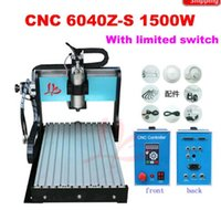 aluminum milling machine - 1 kw spindle stone cnc router Z S for for wood stone metal Aluminum lathe milling cutting machine with limited switch