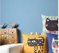 Wholesale Cute Cartoon Cat Cats Thick Cotton Pillow Office NAP Pillow Suitable Style Sofa Pillows And Lovely And Practical Cats