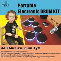 Wholesale Portable Electronic DRUM KIT Musical Instruments Percussion Drum set Electronic Drum Kit