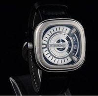 Mejores relojes de moda de calidad Baratos-Mejor Calidad De Cuero De Raya Siete Viernes De Negocios De Reloj En Negocios De Lujo Marca De Moda Hombres De Mujer Relojes Siete Viernes Original Caja