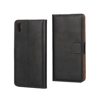 Cheap Genuine Real Wallet Leather Case For Sony Xperia X  XA  X Performance XP Flip Money Pocket Cover Purse Credit ID Card Holder Pouches