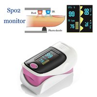 Wholesale OLED Fingertip Pulse Oximeter alarm Spo2 Blood Monitor With LED Display directions modes colors available