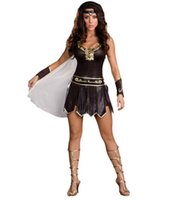 ancient greek games - Halloween Ancient Greek mythology god of war warrior woman costumes temptation Female Soldiers Cosplay Costume Dress CO71194206