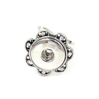 Wholesale Adjustable Snap Button Ring For Snap Button Jewelry With Rhinestone Fit mm Ginger Snap Button Charms SHU1075