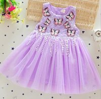 baby product line - Summer New Products Butterflies Embroidered Children Clothing Kids Princess Tutu Dress Infants Baby Girls Dresses