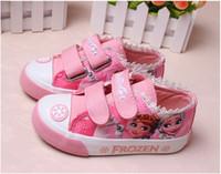 Wholesale High top canvas kids Girls elsa queen ice snow princess flats children shoes casual sport fashion popular shoes