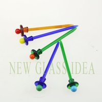 Wholesale Smoking Glass wax dabber color dabber Oil Picker for oil rig or water pipe Colors