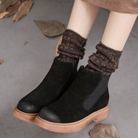 abkle boots - 2016 new autumn original design genuine leather shoes Chelsea matte leather abkle boots