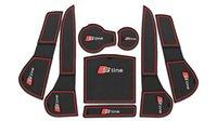 audi mats - Car Door Groove Gate Slot Cup Armrest Storage Pad Anti Slip Mats Suitable For Audi A4L Retail Set