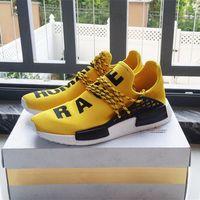 Wholesale Pharrell Williams X NMD HUMAN RACE Grey Sneaker Original Mens Sports Running Shoes Black White Size