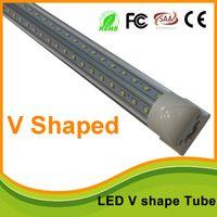 Wholesale 4ft f ft ft T8 v shape led cooler tube light high brightness Integrated Led Tubes Double Sides Led Fluorescent Lights UL