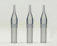 Wholesale New Arrival Grey Disposable Round and Flat Tips for Machines Gun Steel Grips Tattoo Kits